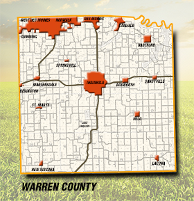 Warren County County Map